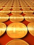 Golden coins. 3d rendering of the golden coins royalty free illustration