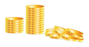 Golden coins royalty free illustration