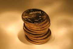 Golden coins. Golden Australian coins Royalty Free Stock Image