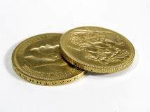 Golden Coins Stock Photography