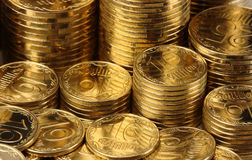 Golden coins background Royalty Free Stock Photos