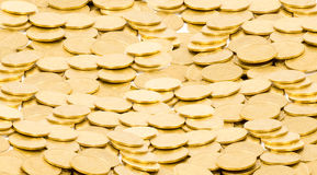 Golden coins background Royalty Free Stock Image