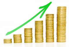 Golden coins / business growth Stock Photo