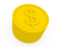 Golden coins in cartoon style Royalty Free Stock Image