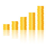 Golden coins. Design element  illustration Royalty Free Stock Photography