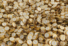 Golden coins with Dollar symbol Stock Photos
