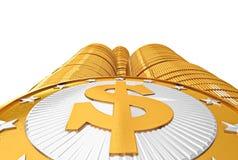 Golden coins with Dollar symbol Stock Photos
