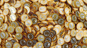 Golden Coins with Dollar symbol Royalty Free Stock Photos