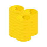 Golden coins icon image. Vector illustration design Stock Photo