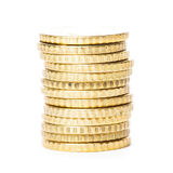 Golden coins isolated Royalty Free Stock Photography