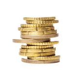 Golden coins isolated Royalty Free Stock Photos