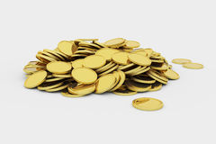 Golden coins pile Royalty Free Stock Photo