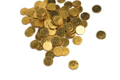 Golden coins pile Stock Photography