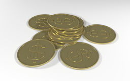 Golden coins Royalty Free Stock Photography