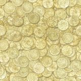 Golden coins seamless texture. Or background Royalty Free Stock Image