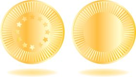 Golden coins set Royalty Free Stock Photos