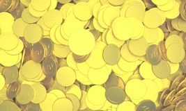 Golden coins. Are show of the richness Stock Image