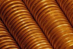 Golden coins. Texture of column golden coins Stock Photos