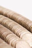 Golden coins. Texture of column golden coins Royalty Free Stock Image