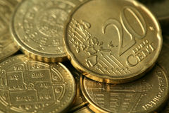 Golden Coins Texture Stock Photography