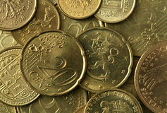 Golden Coins Texture Stock Images