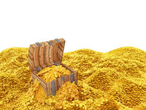 Golden coins treasure Royalty Free Stock Image