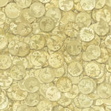 Golden coins vector texture Royalty Free Stock Images