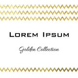 Golden collection vector template card design. Golden collection zig-zag vector template card design royalty free illustration