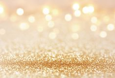 Golden color abstract glitter texture background for holidays.  Royalty Free Stock Photography