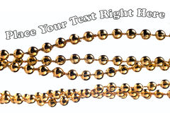 Golden color beads Stock Photo