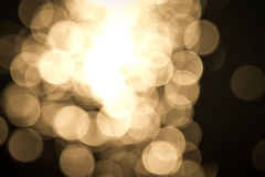 Golden color bokeh abstract background Stock Photography