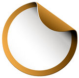 Golden color border sticker Royalty Free Stock Photography