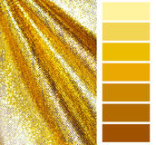 Golden color chart selection Stock Images