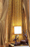 Golden color curtain Stock Images