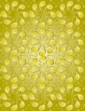 Golden color floral pattern stock photo