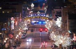 Golden Colorado Main Street Royalty Free Stock Photography