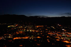 Golden, Colorado at Night. With Clear Skies Royalty Free Stock Photo