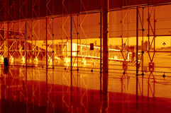 Golden colored airport Royalty Free Stock Photos