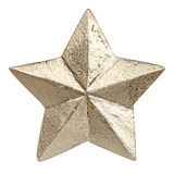 Golden colored christmas star Stock Photo