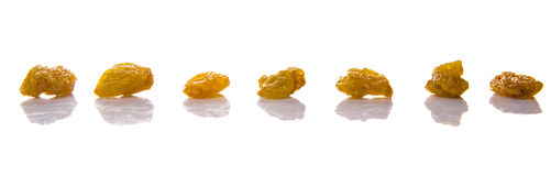 Golden Colored Dried Raisin IV Royalty Free Stock Images