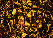 Golden colored relief crystal backgrounds Stock Photo