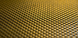 Golden colored stitch texture Stock Photos