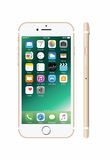 golden-colored white iPhone 7 Royalty Free Stock Image