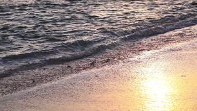 Golden colors on the waves. Sunrise. Ocean. stock footage