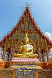 The Golden colossof Buddhism in Thailand Temple. The Golden colossof Buddhism beautiful in Thailand Temple Royalty Free Stock Photography