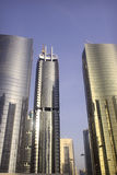 Golden colour tower. In jumeirah lake towers dubai Stock Photo