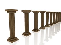 Golden columns Royalty Free Stock Photos