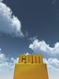 Golden com domain Royalty Free Stock Image