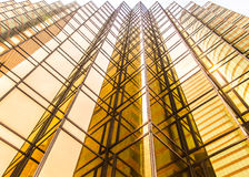 Golden commercial building Royalty Free Stock Image