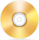 Golden compact disc Stock Images